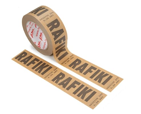 Printed Paper Tape   Colours - 1 (Black), with natural brown base material   Positive Print