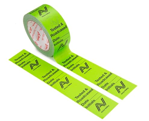 Printed Paper Tape   Colours - 1 (Green) + Flood Coat