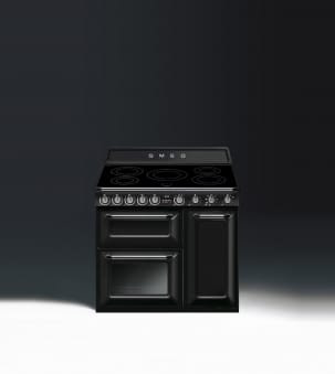 Smeg TR93IBL - 90cm Victoria Induction Range Cooker - Black | Appliance City