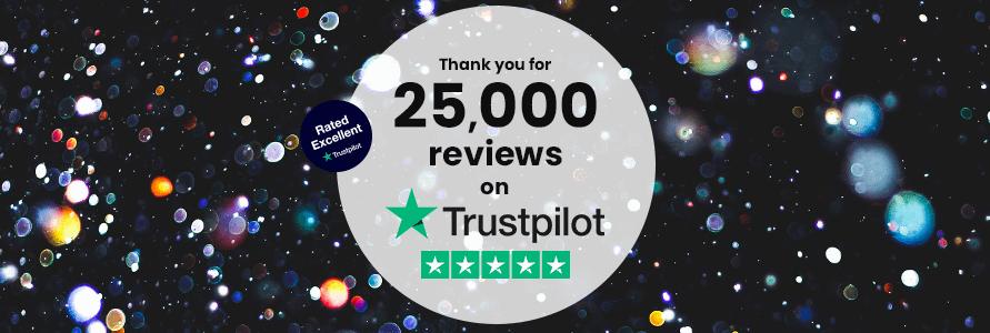 We've Reached 25K Reviews on Trustpilot!