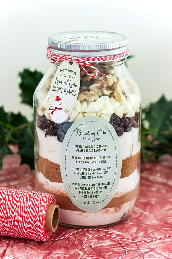 Handmade gifts - recipes - brownie in a jar - appliance city