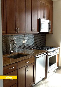 updating a plain white kitchen after