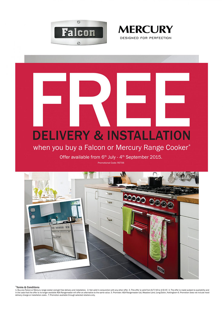 Free Installation & Delivery with Falcon & Mercury | Appliance City