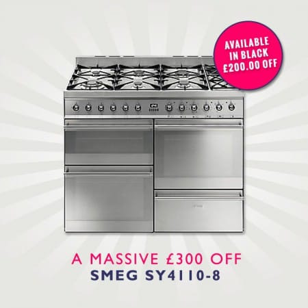 Smeg Range Cooker Deals | £300 off the SY4110-8 £200 off the SY4110BL-8
