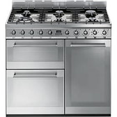 Smeg Symphony SY93 - 90cm Dual Fuel Range Cooker - Stainless Steel | Appliance City