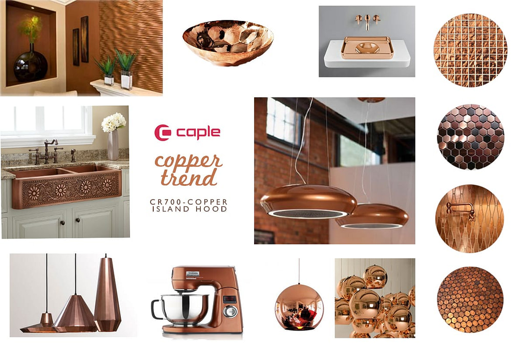 The Copper Trend with Caple - CR700 Copper Island Hood | Appliance City