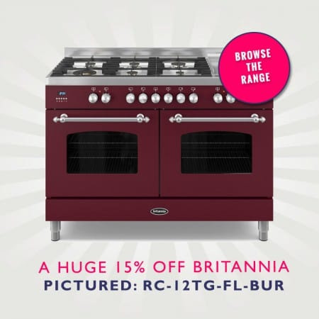 15% off all Britannia Range Cookers | Appliance City