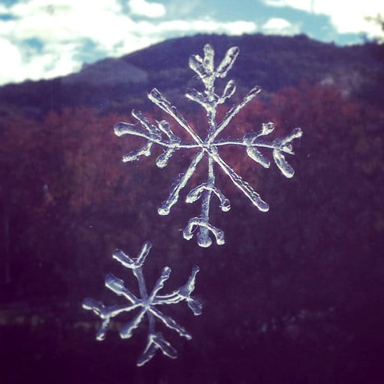 holiday hack - appliance city - window snowflakes