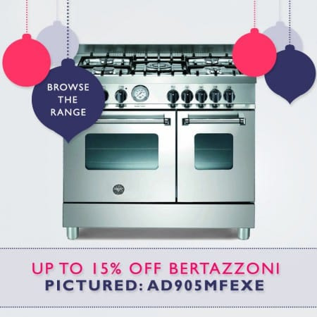 up to 15% off Bertazzoni Range Cookers. FREE Christmas Delivery | Appliance City