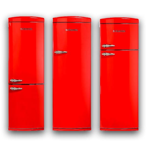 Retro Red Fridge Freezers by Britannia at Appliance City
