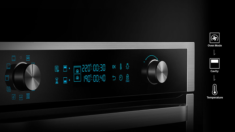 Samsung Dual Cook Flex control panel