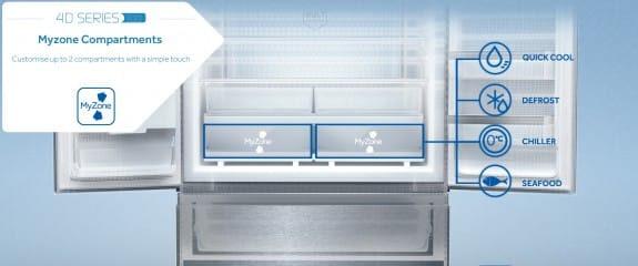 NEW Haier 4D Series 100 - 4DS100 Fridge Freezer | MyZone Compartments