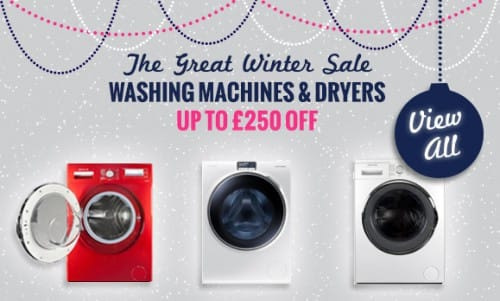 The Great Winter Sale NOW ON! - up to £250 off Washing Machines, Tumble Dryers & Washer Dryers | Appliance City