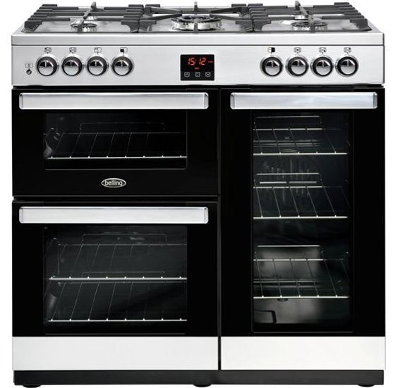 Belling COOKCENTRE 90DFTSTA 4070 90cm Dual Fuel Range Cooker