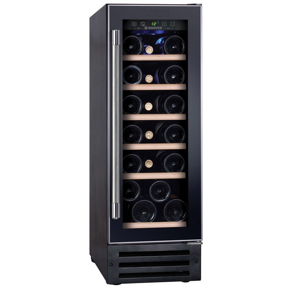 A freestanding undercounter wine cooler made by Hoover