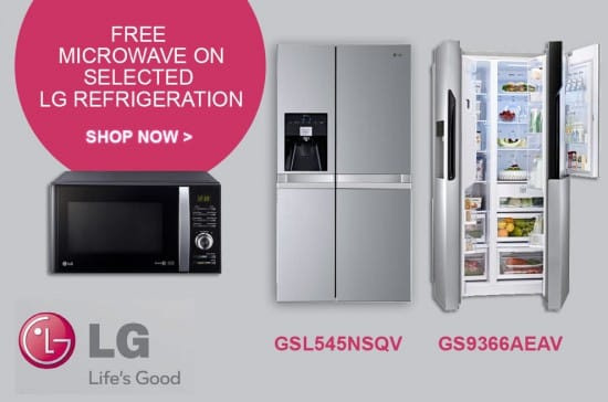 Free Microwave on selected LG Fridge Freezers | Appliance City EXCLUSIVE