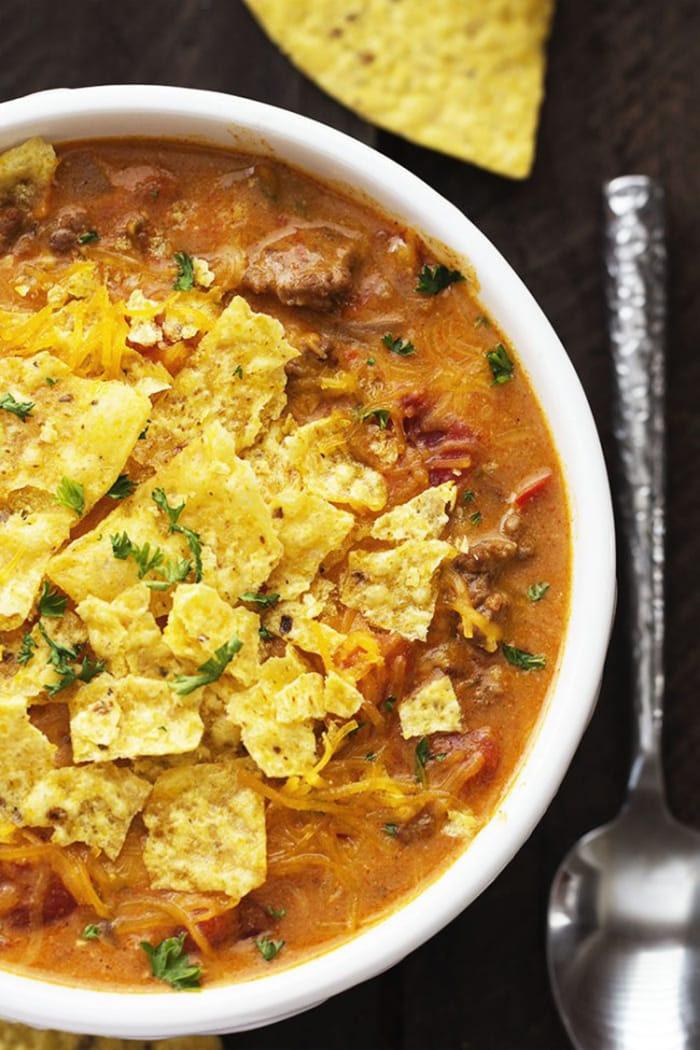 Nacho Day - Recipes - Appliance City - Beefy Nacho Soup