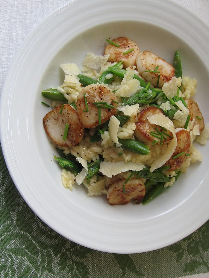 Scallop risotto paired with sauvignon blanc - appliance city and naked wines