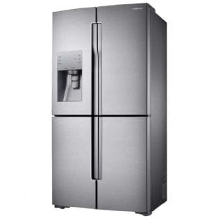 £300 Cashback - Samsung RF56J9040SR - French Style 4 Door Fridge Freezer Ice & Water | Appliance City