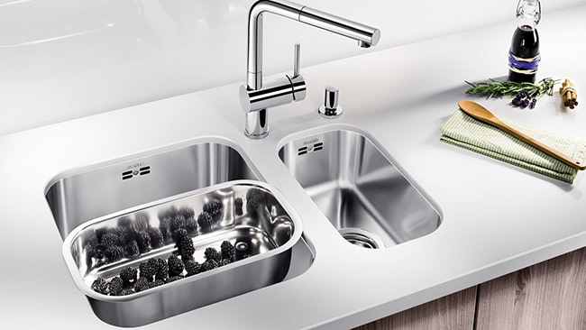 Blanco undermount sink.