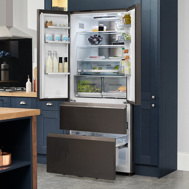 Haier French Style Fridge Freezer HB18FGSAAA