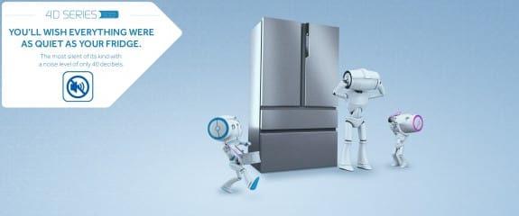 NEW Haier 4D Series 100 - 4DS100 Fridge Freezer | Low Noise Level