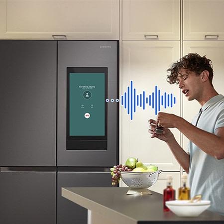 Smart fridge bluetooth calling