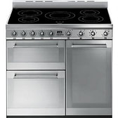 Smeg Symphony SY93I - 90cm Induction Range Cooker - Stainless Steel | Appliance City