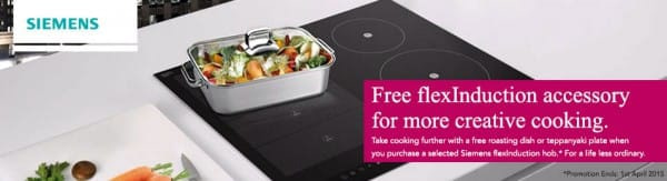 Free Siemens Accessory with flexInduction Hobs | Appliance City