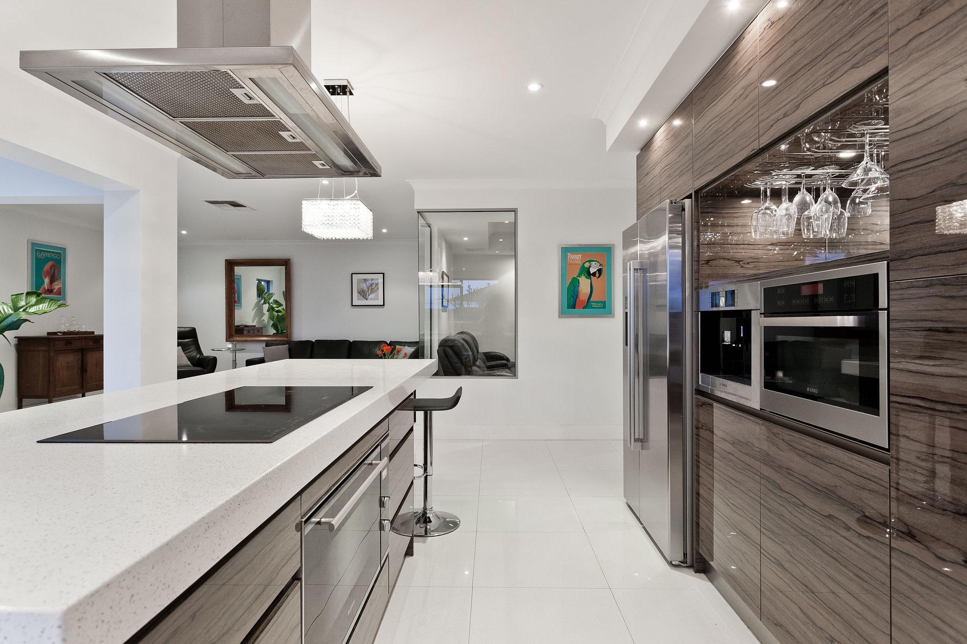 steam oven in a modern kitchen