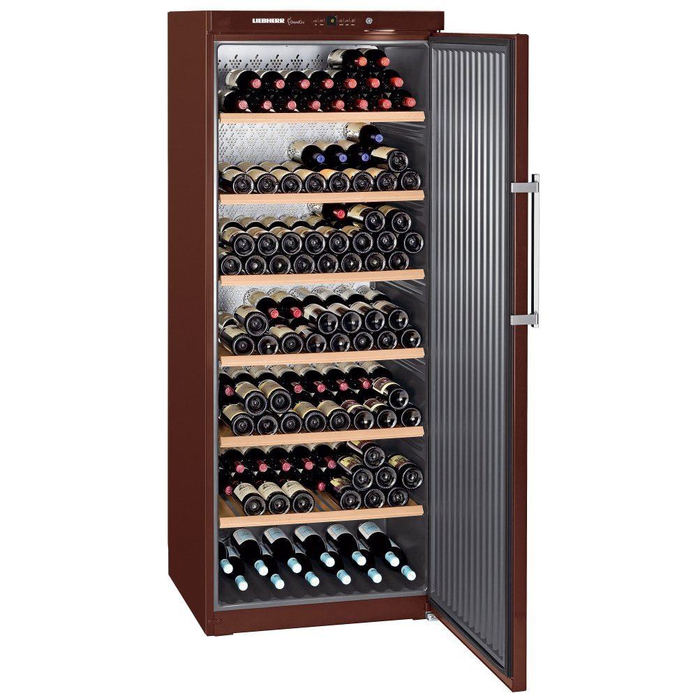 A freestanding wine cooler made by Liebherr