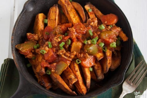 sweet potato chili fries