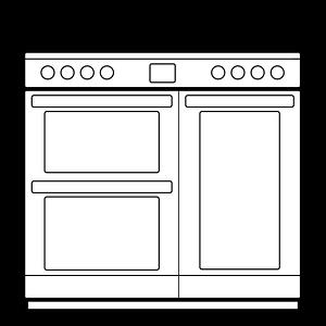 Range cooker size