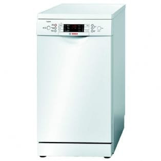 £70 cash back - Bosch SPS59L12GB - 45cm Slimline Logixx Freestanding Dishwasher | Appliance City