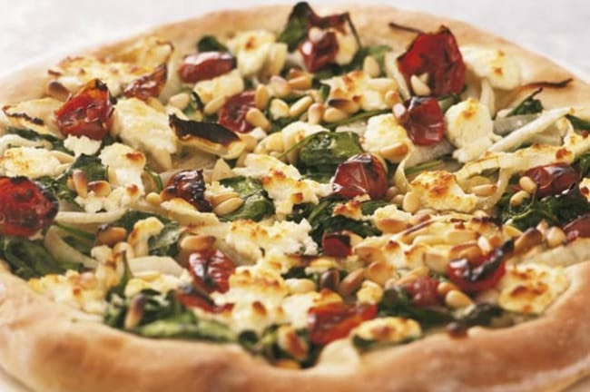 Appliance City - Recipes - Goats Cheese and Spinach Pizza