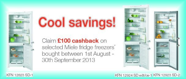 Cool savings on selected Miele fridge freezers