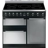 Smeg Symphony SY93IBL - 90cm Induction Range Cooker - Gloss Black | Appliance City