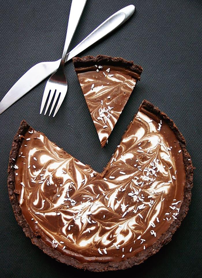 Slim down for the season - Recipes - Appliance City - Double Dark Chocolate Coconut Pie