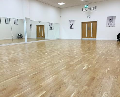 Meadow Wood Sprung Floor at Bluebell Ballet Studios