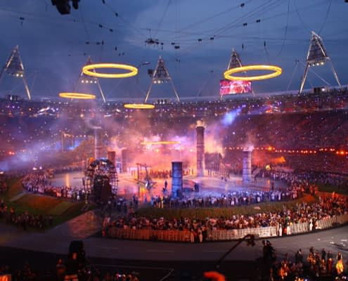 Printed Floor for London 2012 Opening Ceremony