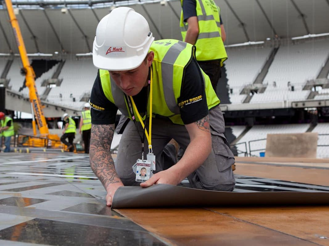 Printed Floor for London 2012 Opening Ceremony (installation)
