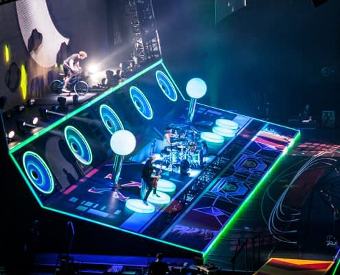 Custom Printed Floor for the McBusted Tour