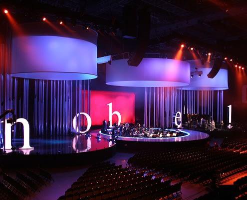 StudioTak High Gloss Black Stage Floor (Nobel Peace Prize)