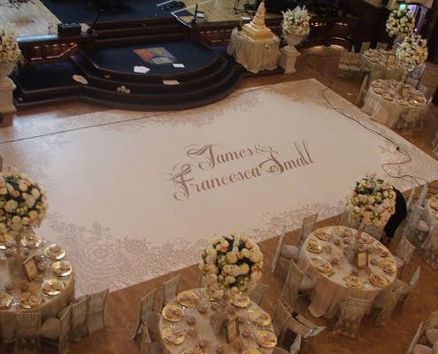 Custom Printed Floor - Wedding