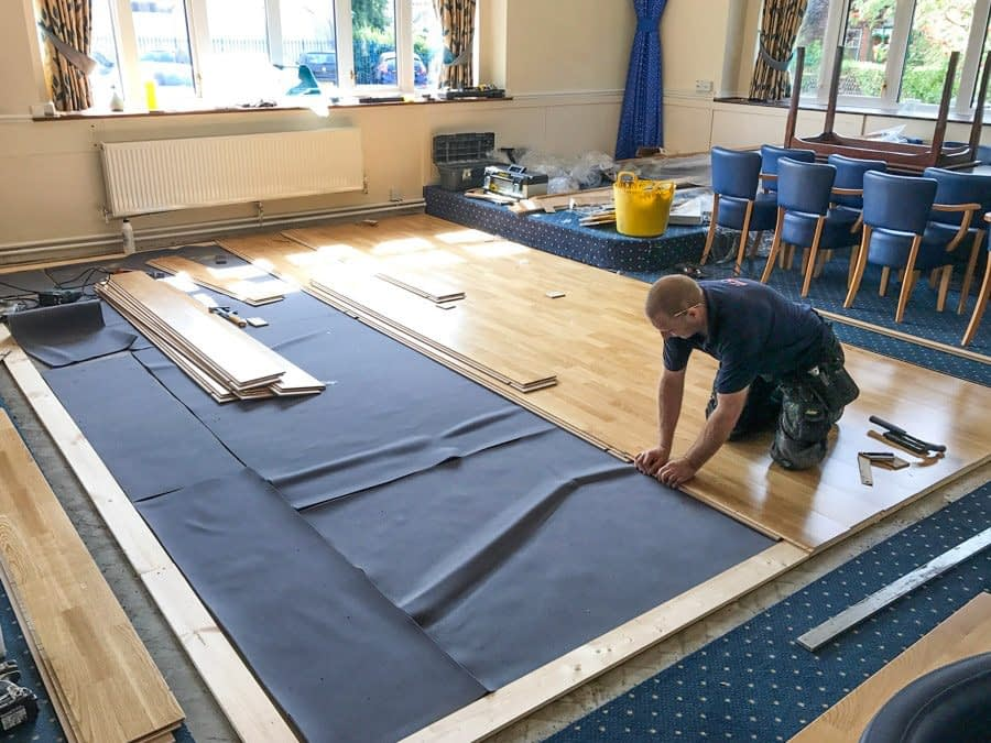 Installation: Meadow™ Sprung Dance Floor at Peterborough Conservative Club