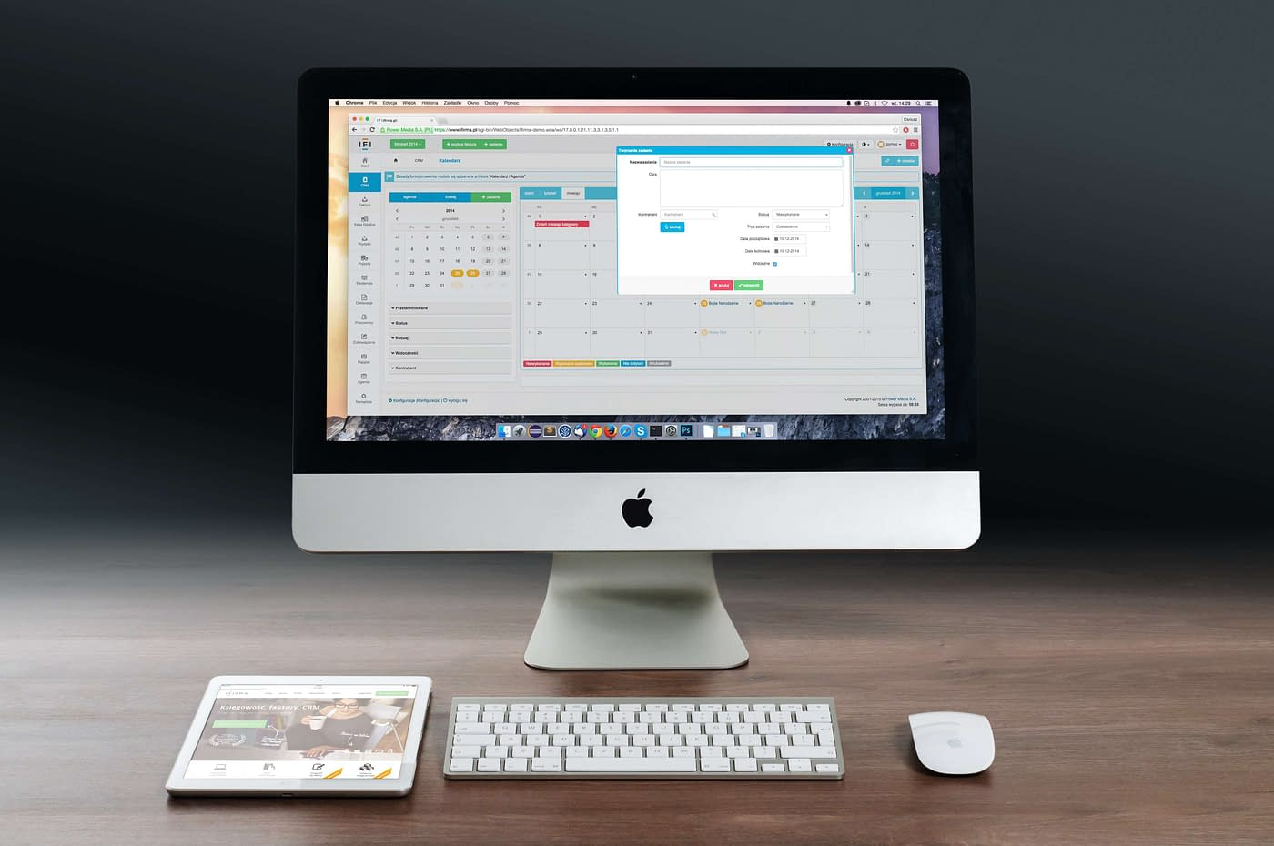 mac showing software being used