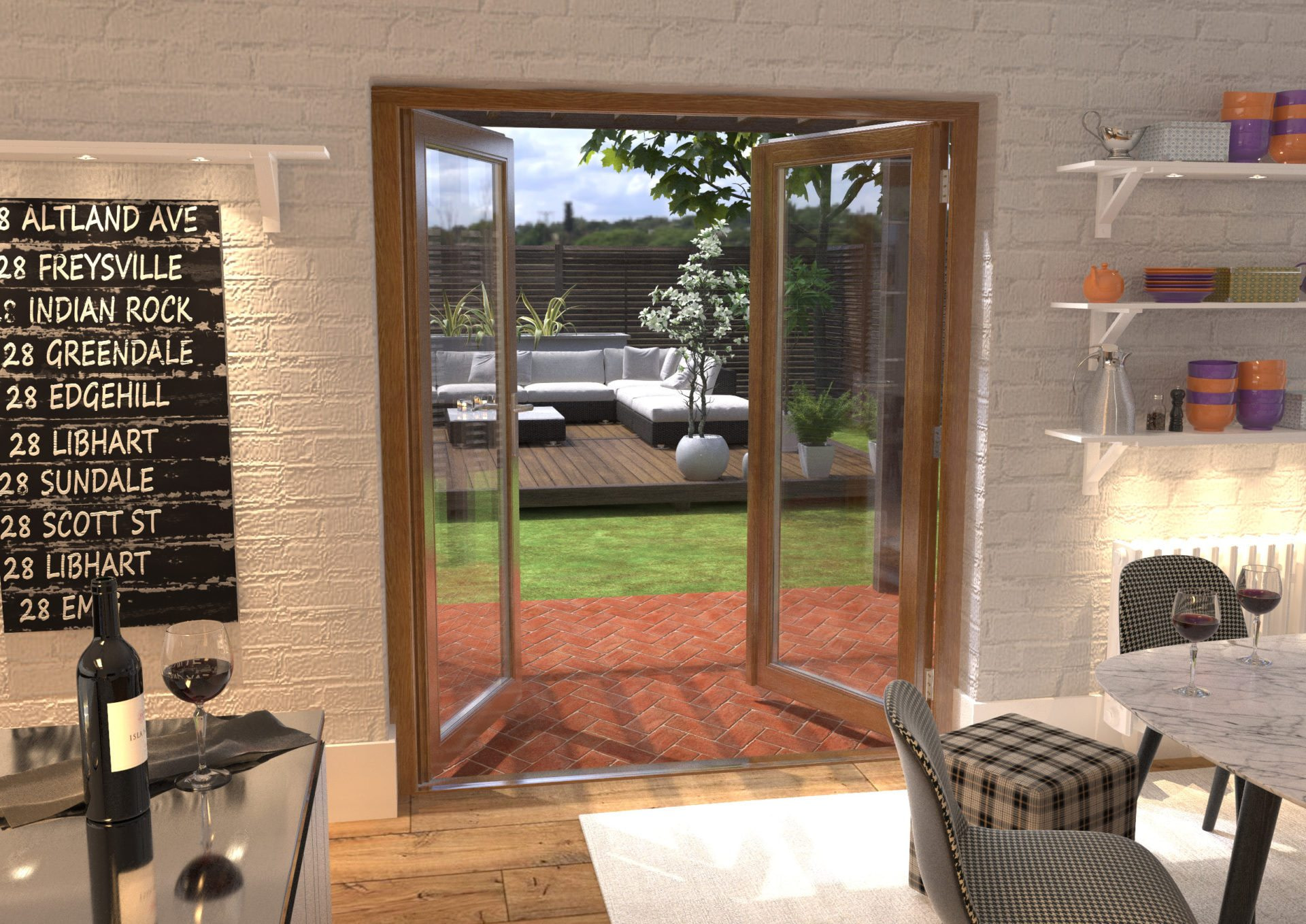 Doors & More Pre-Finished Solid Oak French Doors