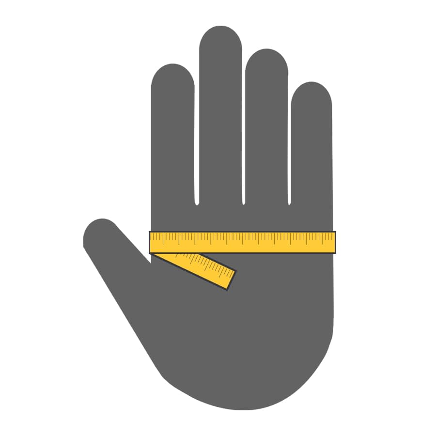 How to measure your hand guide to find out glove sizing