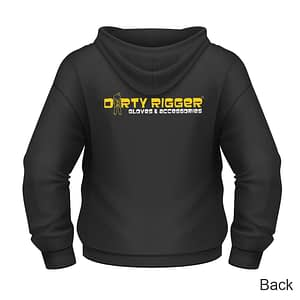 Dirty Rigger Pull over hoodie (back view)