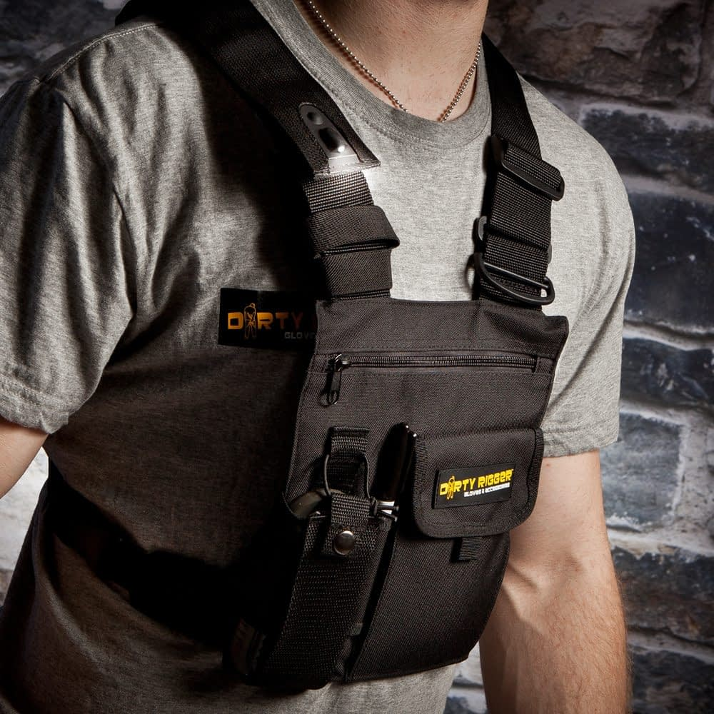 Dirty Rigger LED Chest Rig (Front view)